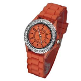 Gel Silicone Crystal Men Lady Jelly Watch Gifts Stylish Fashion Luxury
