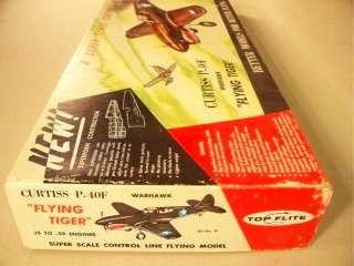 Top Flite P 40 Super Scale Control Line Model Airplane Kit #S 1