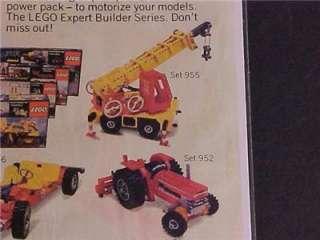 OLD ~LEGO TOY PLASTIC BUILDING SET BULLDOZER PRINT AD~ORIG VINTAGE