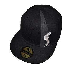 NEW Michael Jackson MJ BAD Fitted Baseball Cap 7 1/4