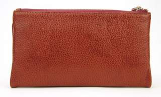 Genuine Leather Bifold Womens Wallet Mens Card Holder Coin Snap