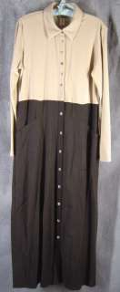 Coldwater Creek 12 NWT Tencel Black Beige Dress