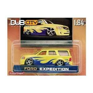 Jada Dub City Yellow Ford Expedition 1:64 Scale Die Cast