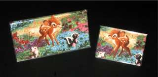 BAMBI THUMPER & FLOWER Fabric Checkbook Cover/Debit Set