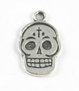 30PCS Tibetan silver skull head charms A15762
