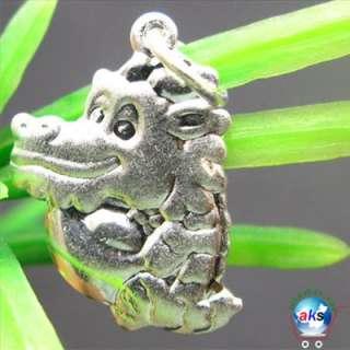 925 Sterling Silver Zodiac Dragon Charm pendant SMG95