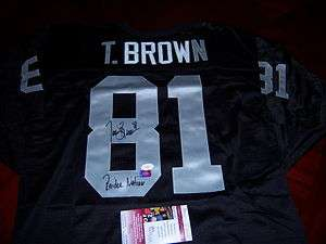 TIM BROWN RAIDERS,RAIDER NATION,NOTRE DAME JSA/COA SIGNED JERSEY