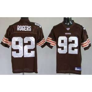 Shaun Rogers #92 Cleveland Browns Replica NFL Jersey Brown