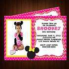 MINNIE MOUSE BIRTHDAY PARTY INVITATION CUSTOM & PERSONALIZED WITH