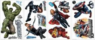 AVENGERS WALL DECALS Hulk Iron Man Thor Captain America Stickers Decor