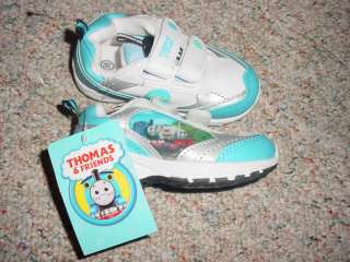 BRAND NEW TODDLER BOYS THOMAS AND FRIENDS BLUE AND WHITE VELCRO TENNIS