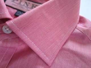 THOMAS PINK red & white Murray stripe dress shirt 15.5 36 NWT
