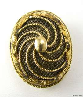 VICTORIAN MOURNING BROOCH   14k GOLD Hair Jewelery PIN