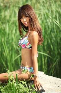 Tropical Floral Bikini Skirtini Set Beach Dress Bathing Suit Swimsuit