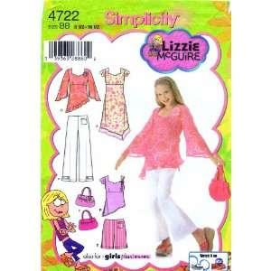 Sewing Pattern Lizzie McGuire Plus Girls Dress Tunic Pants Short Purse