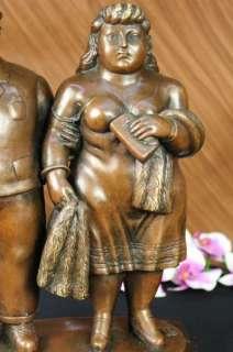 Walking Bronze Sculpture Statue Figurine Figure Art Modern
