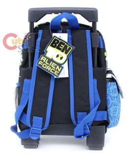 Ben 10 School Roller Backpack Rolling Bag 12 Blue