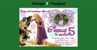 Tangled Rapunzel Custom Birthday Party Invitations