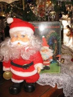 Walking Santa Claus Rings Bell Plays 3 Songs in Original Box