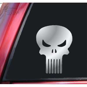 Punisher Skull Vinyl Decal Sticker   Shiny Chrome