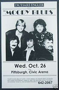 MOODY BLUES promotional concert poster collectible