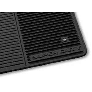 Super Duty All Weather Vinyl Floor Mats, Super Cab, Black Automotive