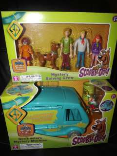 Machine VAN & 5 Figures Scooby Doo Goo Shaggy Crew Ghost Patrol NEW