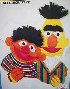 Bert & Ernie Sesame Street crewel embroidery kit