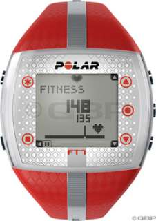Polar FT7 Heart Rate Monitor Womens; Red/Silver