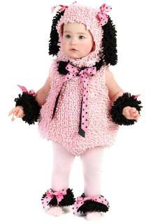 CUTE BABY PINK INFANT POODLE TODDLER PUPPY DOG COSTUME