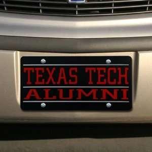 NCAA Texas Tech Red Raiders Black Mirrored Alumni License