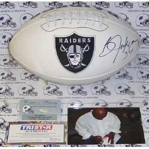 Bo Jackson Autographed/Hand Signed Oakland Raiders Logo