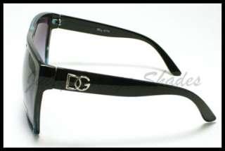 UNISEX SUPER OVERSIZED FLAT TOP SQUARED DG Celebirty Sunglasses BLACK