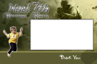 Call Of Duty custom BIRTHDAY PARTY INVITATION FAST SERVICE