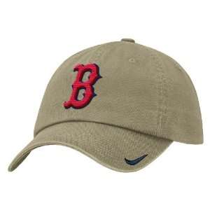 Boston Red Sox Khaki Unstructured Adjustable Stadium Baseball Cap By