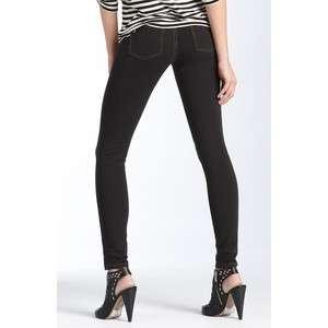 Hue Womens Hue Solid Skinny Jeanz Leggings Black Denim U11880