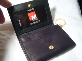 Mundi Black Card & Coin Leather Wallet