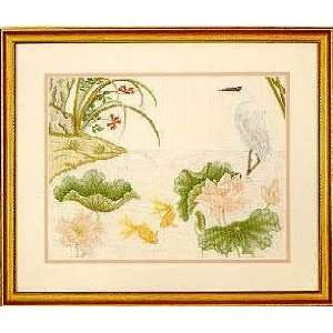 Harmony Lotus Pond, Cross Stitch from Serendipity Arts