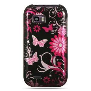 Pink butterfly design phone case for the LG myTouch Q