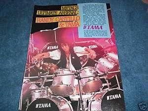 Tama Drums   Randy Castillo Ozzy Osbourne 1988 Ad