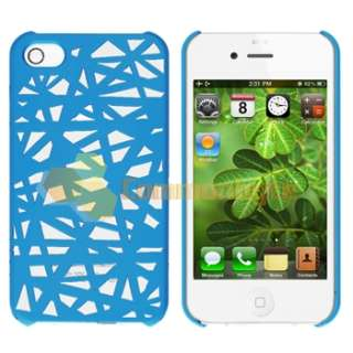 Blue Bird Nest Interwove Line Hard Case+PRIVACY LCD Filter for iPhone