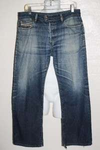 DIESEL RABOX MODEL RARE BUTTON FLY BLUE JEANS 33 WOW