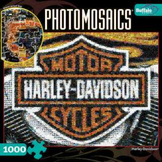 Harley Davidson 1000 Piece Photomosaic Puzzle 079346105465