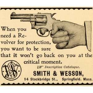 Smith Wesson Logo Revolver Handgun Springfield Massachusetts Firearms