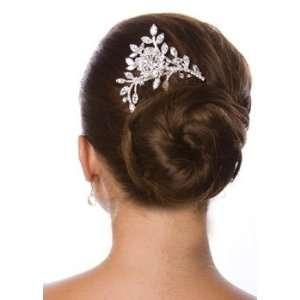 Stunning Rhinestone Floral Bridal Hair Comb