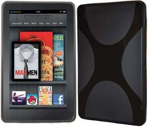 Kindle Fire Case Rubberized Hard Cover BLACK Snap on 7 Tablet 2011