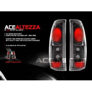 GMC Sierra Tail Lights Carbon Taillights 1999 2000 2001 2002 2003 2004