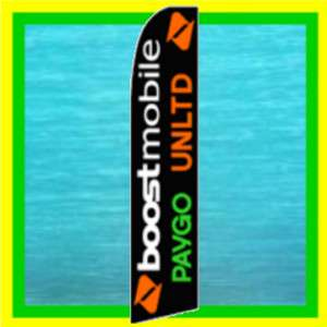 BOOST MOBILE Feather Swooper Banner Advertising Flag