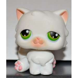 Persian #15 (White, Green Eyes) Littlest Pet Shop 2004