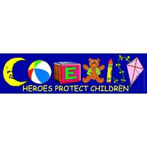 Coexist Heroes Protect Children Magnetic Bumper Sticker